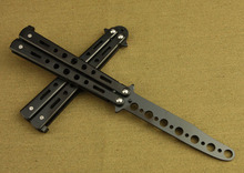 Butterfly Knife butterfly training  Knife Folding Blade knife Self Defense Knife  not sharpened