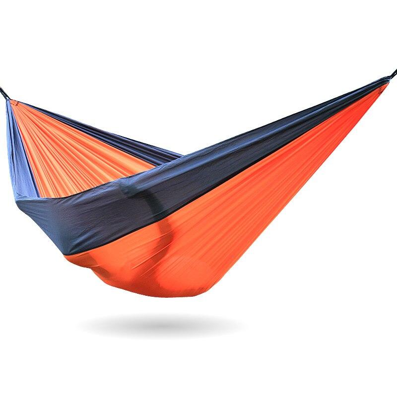 Gray Orange Gray 300*200CM outdoor camping Hammock Outdoor Furniture Parachute Fabric Outdoor Camping Hammock<br>