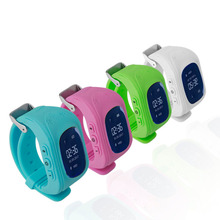 Professional Q50 OLED Display Children Kids Smart Wrist Watch GPS Tracker Locator Anti-Lost Waterproof Smart Watch Drop Shipping(China)