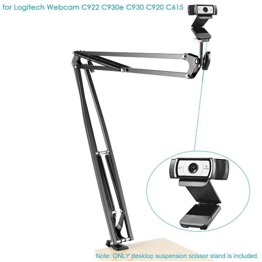 N//M Webcam Stand Webcams Fill Light Brackets Cameras 360-Degree Rotation Desktop Suspension Boom Scissor Camera Arm Tripod Stand Holder for Phone