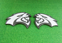 2pcs Auto car White HELLCAT for Charger Challenger Emblem Badge Sticker