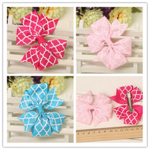 2pc baby girls hair clip for girls of grosgrain hair ribbon bows for hair hairbows hairpins children hair accessories yiwu china(China)