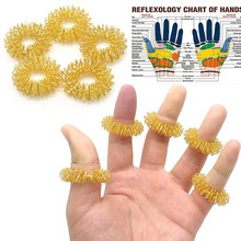 10Pcs Finger Massage Ring Acupuncture Ring Health Care Body Massager Relax Hand Massage Finger lose Weight Health Care Massager(China)