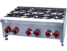 Gas Range with 6 burners Table top gas Stove With 6-Burner commericial Gas Fryer multi-cooker gas cooktop(China)