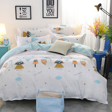 Fashion Scandinavian Cartoon Summer 4Pcs Twin/Full/Queen/King Size Bedding Linen Quilt/Duvet/Doona Cover Set&Sheet Pillowcases