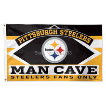 2017 Pittsburgh Steelers MAN CAVE Outdoor American Football College Flag 3X5FT Drop Shipping Custom Club Sport Flag