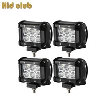 HID CULB 18W LED Work Light Bar For Indicators Motorcycle Driving Offroad Boat Car Tractor Truck 4x4 SUV 12V For Drop Shopping