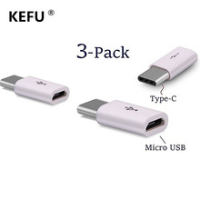 3PCS Converts USB Type-C to Micro USB Adapters for MacBook Pro ChromeBook Pixel Nexus 5X 6P Nokia N1 OnePlus 2 3 3T Accessories