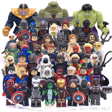 Classic toys sequel Marvel LegoINGlys bricks Action figures Models Superman Batman iron Man Hulk Building Blocks children's gift