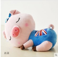 1 PCS,Happy children's day wedding 18cm. 35cm  pig plush soft toys stuffed animals with big face  graduation Gift souvenir