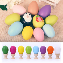 10Pcs/set Colorful Easter Eggs Kids Educational Play Toys Kids Children DIY Painting Egg Easter Day Gifts Party Home Decor