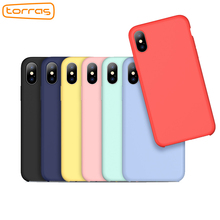TORRAS liquid silicone phone case for iphone x cover protective phone case microfiber cushion fashion luxury case for iphone x(China)
