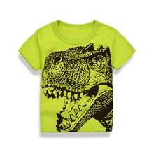 Cartoon dinosaurs Boys Girls T shrit 2Y-7Y Kids Cotton T-shirts Short sleeve Children Boys Tops Sports Tee Shirts Summer Clothes(China)