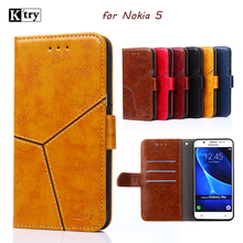 case for Nokia 5 case flip cover leather silicone back full protect hard funds Ktry original case for Nokia5 Nokia 5 cases cover(China)
