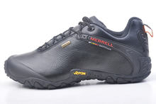 merrell Genuine leather men black Outdoor climbing shoes sport shoes skid bottom mountain hiking shoes 39-45