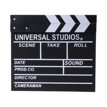 New hot Arrivel Cute Classical Director Video Clapper Board Scene Clapperboard TV Movie Film Cut Prop 30x27cm