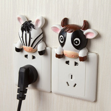 Creative cute cartoon resin switch stickers socket protective cover switch stickers home decoration.