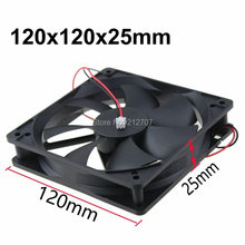 Gdstime 0.12A 1500RPM 120mmx120mmx25mm 12V 2 Pin 12cm PC Case 120mm DC Cooling Fan