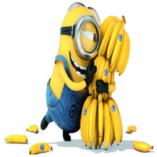 Photo background wallpaper photography American film Minions cartoon banana room wall art mural murals-3d wall papers home decor