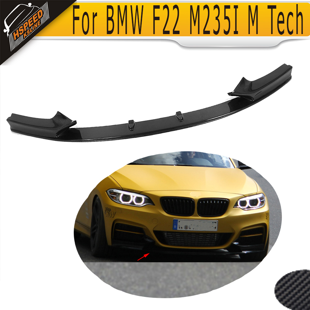 F22 P style carbon fiber front bumper lip spoiler car front lip for BMW ( for 2 series F22 M235I M tech bumper 2014UP only)<br><br>Aliexpress