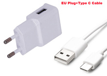 2A EU US Adapter Mobile Phone Charger +Type C USB Data Cable For BlackBerry Motion/Neon 2 DTEK60,For Xiaomi Mi 5s/5s Plus(China)