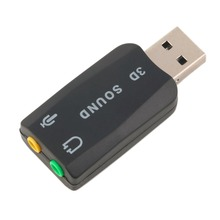 In Stock! USB 2.0 to 3D Mic Speaker Audio Headset Sound Card Adapter 5.1 for PC Laptop New Arrival