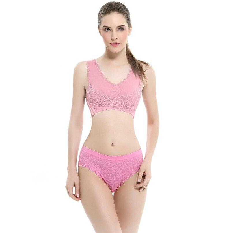 Women Sports Bra Sports Underwear Fitness Yoga Running Pad Cropped Top Sports Wear Tank Tops Anti-Sweat Lace Bra #3j#F (2)