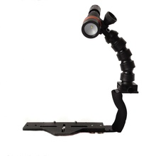 Flex Arms Lighting Bracket System For Waterproof Diving Underwater Housing Case + Diving Led Cree ARCHON D11V Flashlight Torch