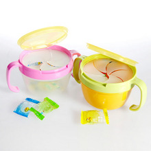 Infant Toddler 360 Rotate Spill-Proof Bowl Dishes Tableware Baby Snack Bowl Food Container Feeding Children Assist Food(China)
