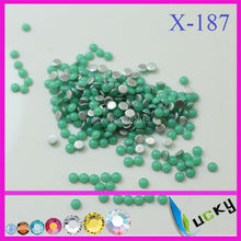 4320PCS 4mm half round shape hotfix epoxy  flatback pearl perfect look neon green