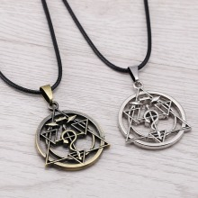 J Store Anime Souvenir Fullmetal Alchemist Symble Choker Necklaces Pendants Edward Hollow Magic Circle Necklace