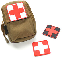 1 PC 3D PVC Rubber Red Cross Patch Medic Paramedic Tactical Army Morale Badge