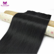 Neverland Natural Hair Straight One Piece Clip in Hair Extensions Heat Resistant Synthetic Ombre Wigs Fake Hairpiece Hairstyle(China)