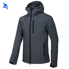 New Softshell Jacket Men Hooded Tech Fleece Waterproof Thermal Outdoor Hiking Clothing Ski Trekking Camping Gore-Tex Clothes