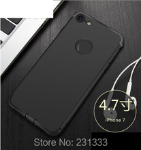 Matte Soft TPU Case For Iphone 7 I7 Iphone7 7plus 6 6S Plus I6 With Dust Plug Frosted Rubber Matt Cover Cell phone Skin 100pcs