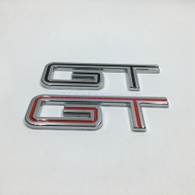 For 2005 2006 2007 2008 2009 2010 Ford Mustang GT Fender Nameplate Badge Emblem Sticker Black / Red