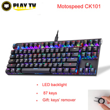 Motospeed CK101 Wired Mechanical Keyboard Metal 87 Keys RGB Blue Red Switch Game keyboard LED Backlit Anti-Ghosting forComputer
