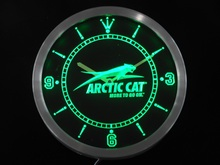 nc0168 Arctic Cat Snowmobiles Neon Sign LED Wall Clock(China)