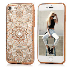 Mavissdiary Case for iPhone 7 / 7 Plus Luxury 3D Diamond Glitter Rhinestone Soft TPU Proctective Cover for iPhone 7 7Plus(China)