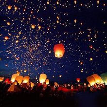 10pcs/lot Multicolor Chinese Paper Lantern Sky Lanterns Flying Wishing Lamp Kongming Lantern Balloon Wedding Party Decoration(China)