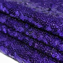 1 Yard Glitzy Purple Embroidered Sequin Fabric Material Mesh Lace Sequin Fabric For Clothes Dress Wedding Decoration Table Cloth