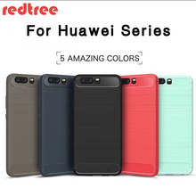 Cases for Huawei P8 P9 lite P9 P10 plus mate 8 9 nova plus Y6 pro honor 5C 5X 6X 7 lite V8 NOTE 8 carbon fibre soft phone Case