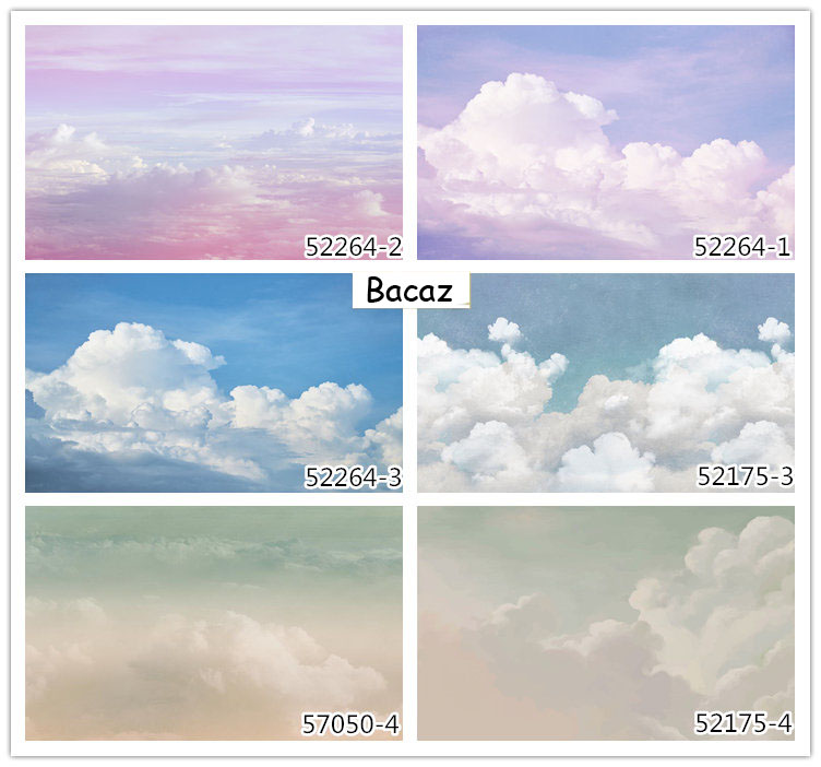 HTB1zRhCfbwrBKNjSZPcq6xpapXaS - Pink Sky Cloud 3d Cartoon Wallpaper Murals for Girls Room-Free Shipping