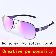 Pilot Brand Polarized sunglasses men sun glasses women screwless eyewear Fashional eyeglasses with original case(China)