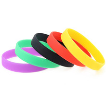 Buy 10pcs /lot Trendy Punk Style Multi-color Silicone Rubber bracelet Hypoallergenic Crossfit Flexible Bangle Jewelry Woman for $2.25 in AliExpress store