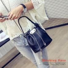 Perfect# 2016 new women's Bucket Satchel Korean tide shoulder hand Bag chain small handbag FREE SHIPPING