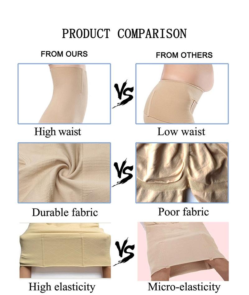NINGMI Slimming Pants Women High Waist Trainer Tummy Control Panties Thigh Butt Lifter Slim Leg Hot Body Shaper Firm Power Short 8