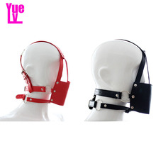 Buy YUELV Leather Head Harness Gag Bondage Restraint Fetish Slave Face Mask Mouth Gag Ball Adult Game Sex Products Couples