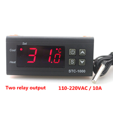 Buy STC-1000 Digital Temperature Controller Two Relay Output LED Thermostat Incubator 110V 220V 10A Heater Cooler for $8.29 in AliExpress store