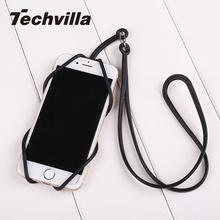 techvilla Silicone Lanyard Case Cover Holder Sling Necklace Straps For Cell Phone Convenient High Quality(China)